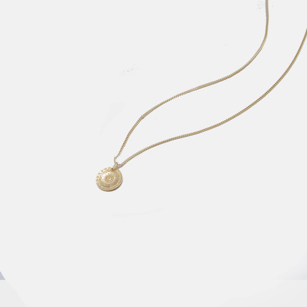 Designb Gold Plated Neck With Pendant In Sterling Silver