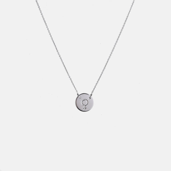 Designb Neck Chain With Pendant In Sterling Silver