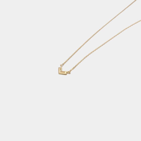 Arrow Necklace in Sterling Silver with Gold Plating