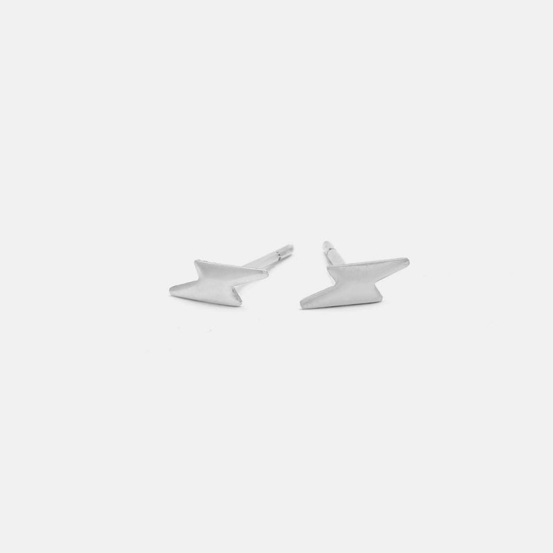 lightning bold stud earrings in sterling silver