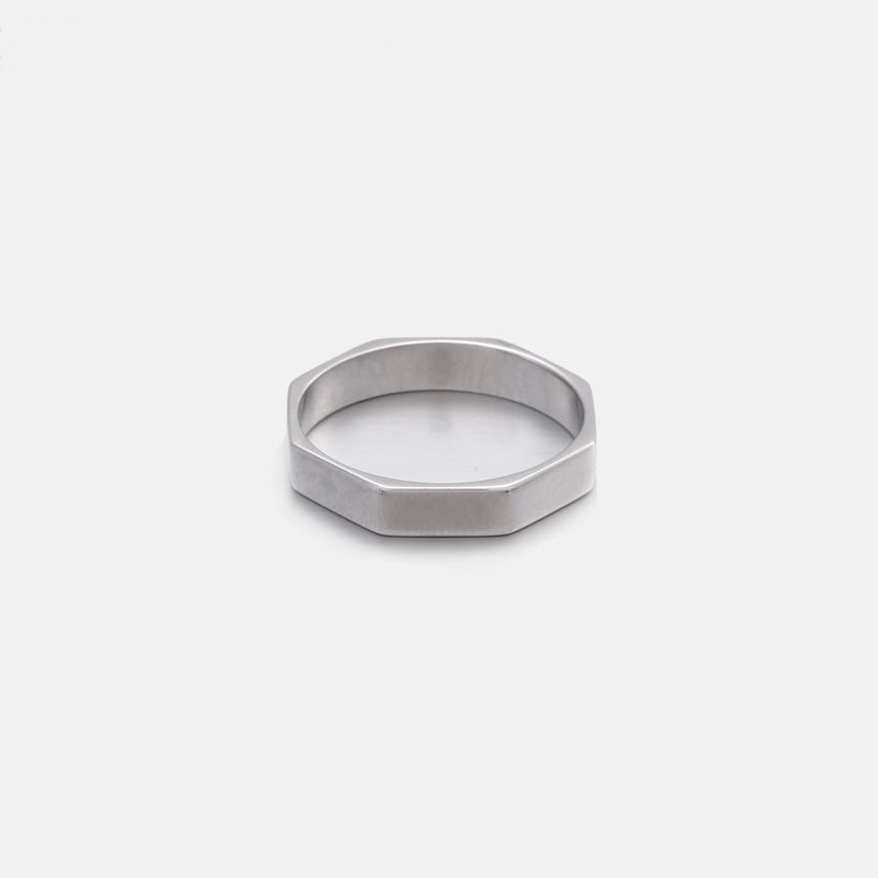 Octagon Ring In Sterling Silver