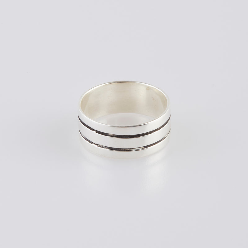Tri Band Ring In Sterling Silver