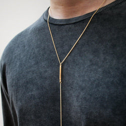 DesignB Skinny Chain Necklace in Gold