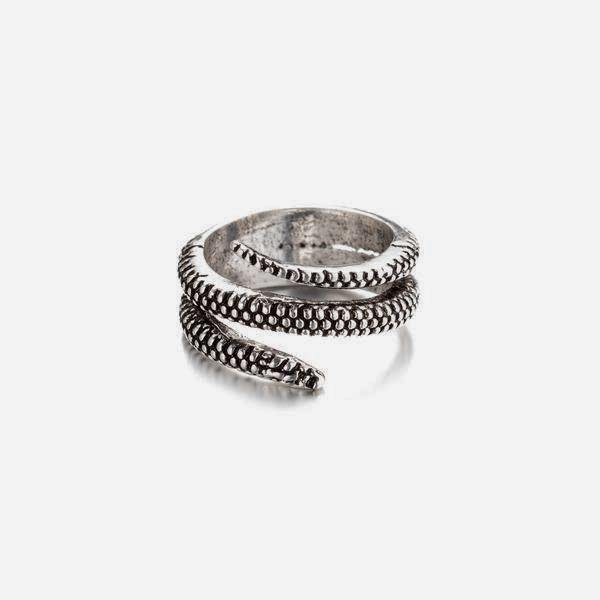 Snake Ring In Antique Silver - designblondon