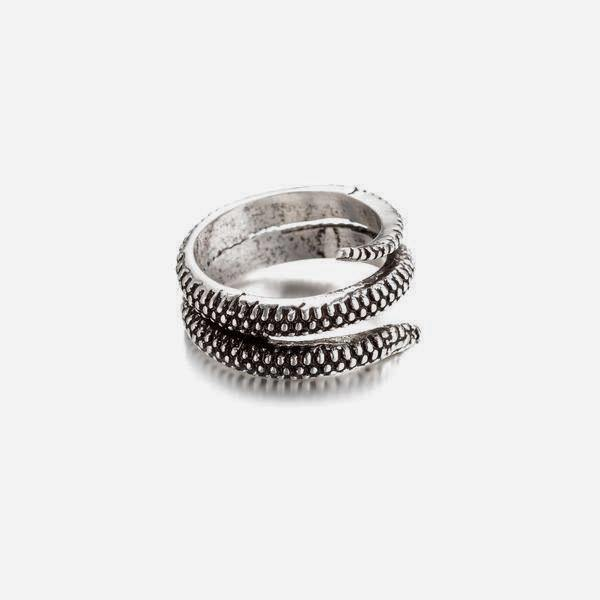 Snake Ring In Antique Silver