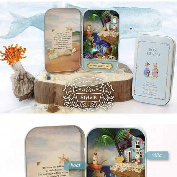 Island Adventures - DIY Handmade Miniature Box Theatre_1