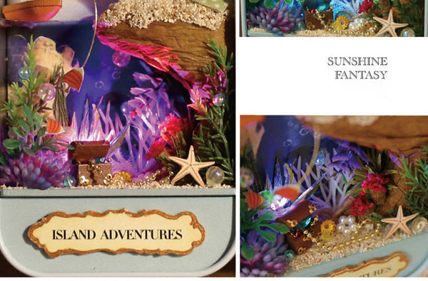 Island Adventures - DIY Handmade Miniature Box Theatre_4