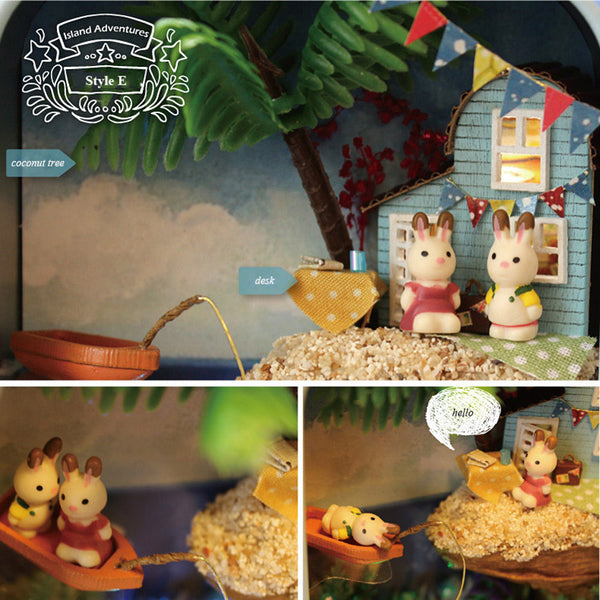 Island Adventures - DIY Handmade Miniature Box Theatre_5