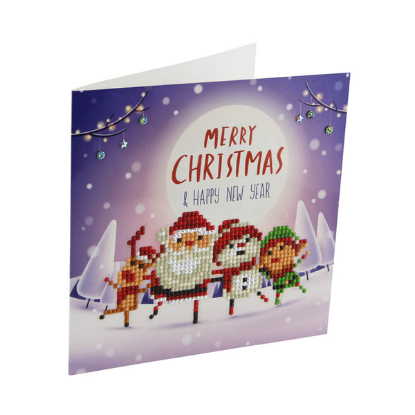 deluxe christmas cards diy 5d diamond painting easy whim