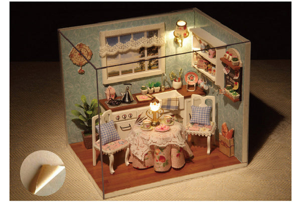 Happy Kitchen - DIY Handmade Miniature Box Theatre_7