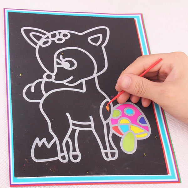 Magic Color Scratch Art for Kids (10pcs Pack) - DIY Scratch Art_2