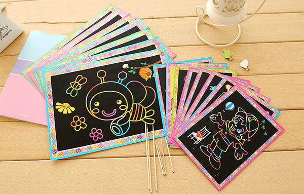 Two-in-One Magic Art (5pcs Pack) - DIY Scratch Art_1