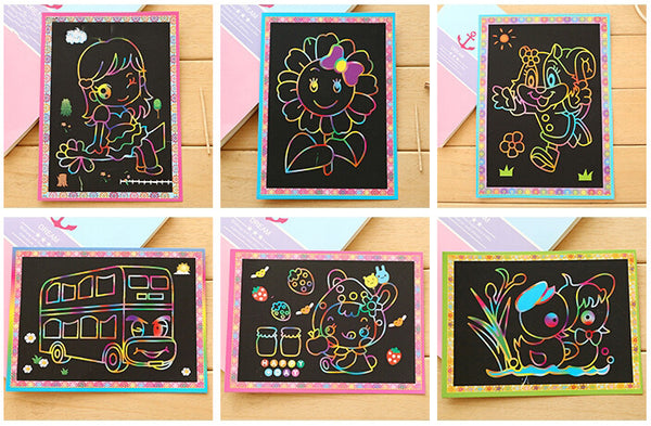 Two-in-One Magic Art (5pcs Pack) - DIY Scratch Art_4