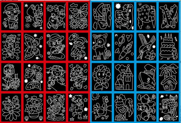 Magic Color Scratch Art for Kids (10pcs Pack) - DIY Scratch Art_5