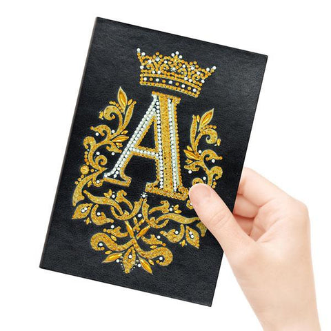 """A"" Royal - Diamond Painting A5 Notebook-EasyWhim"