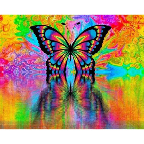 Abstract Butterfly - DIY Oil Painting on Canvas - Paint By Numbers-EasyWhim