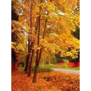 Autumn - DIY Oil Painting on Canvas - Paint By Numbers-EasyWhim