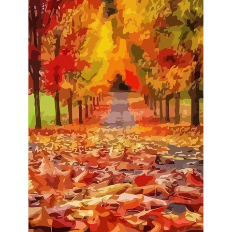 Autumn Path - DIY Oil Painting on Canvas - Paint By Numbers-EasyWhim
