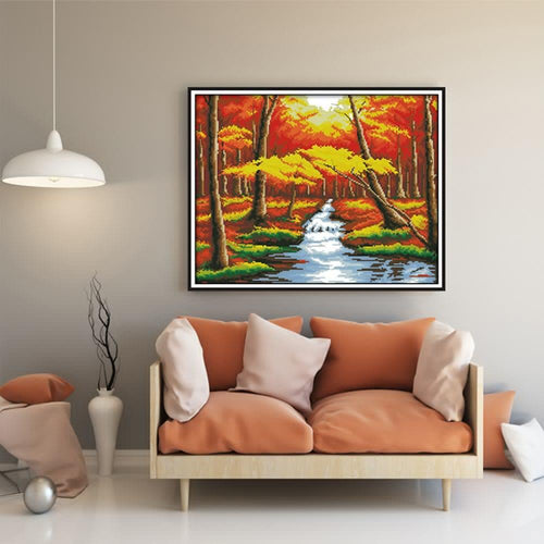Autumn River - Cross Stitch Kit-EasyWhim