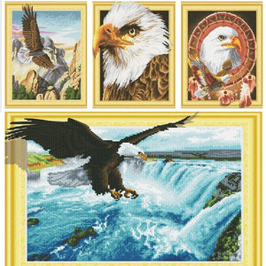Bald Eagles - DIY 5D Diamond Painting - 3D Drill-EasyWhim