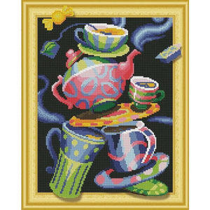 Beautiful Teapots - DIY 5D Diamond Painting - 3D Drill-EasyWhim