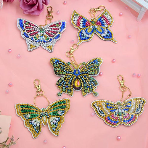 Bedazzled Butterflies - 5D Diamond Key Ring Collection-EasyWhim