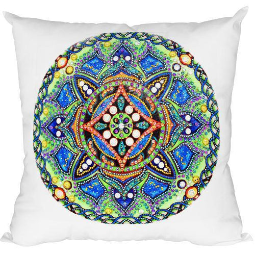 Bedazzled Nature Mandala - DIY Diamond Painting Cushions-EasyWhim