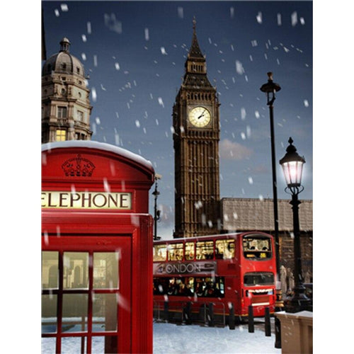 Big Ben - DIY Oil Painting on Canvas - Paint By Numbers-EasyWhim
