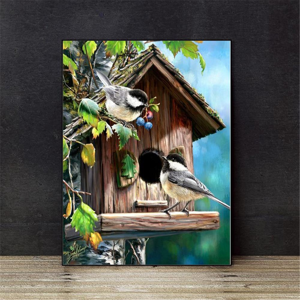 Bird House - Cross Stitch Kit-EasyWhim