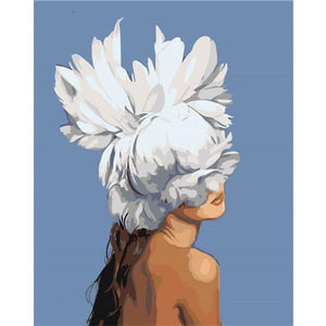 Bloom Girl - DIY Oil Painting on Canvas - Paint By Numbers-EasyWhim