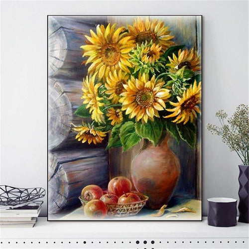 Blooming Sunflowers - Cross Stitch Kit-EasyWhim