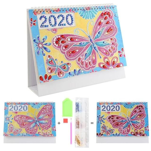 Butterflies - DIY Diamond Painting 2020 Calendar-EasyWhim