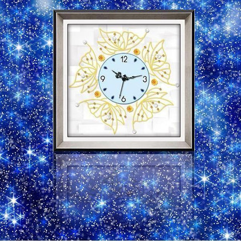 Butterfly Clock - DIY 5D Diamond Painting Clocks-EasyWhim