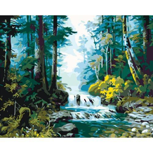 Calm River - DIY Oil Painting on Canvas - Paint By Numbers-EasyWhim