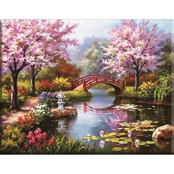 Cherry Bridge - Cross Stitch Kit-EasyWhim