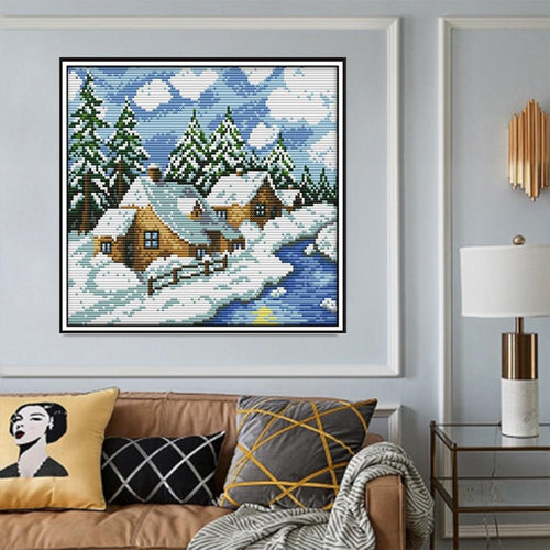 Cold Home - Cross Stitch Kit-EasyWhim