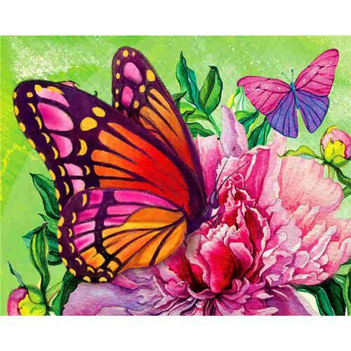 Color Butterflies - DIY Oil Painting on Canvas - Paint By Numbers-EasyWhim