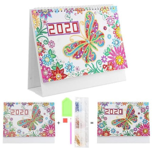 Colorful Butterfly - DIY Diamond Painting 2020 Calendar-EasyWhim