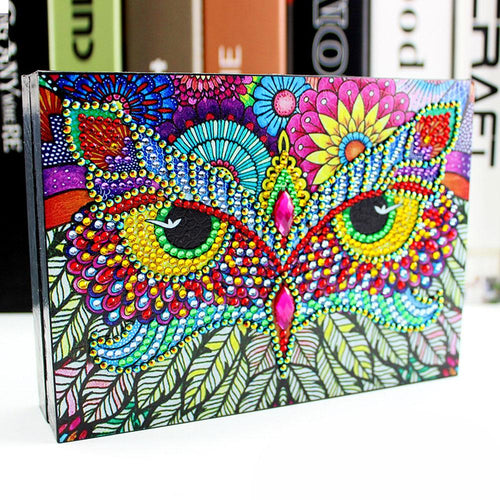 Colorful Owl - DIY Diamond Painting Jewelry Box-EasyWhim