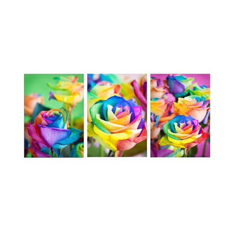 Colorful Roses Multi Drawing - DIY 5D Diamond Painting - Full Drill-EasyWhim