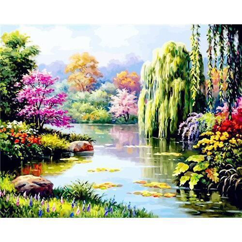 Colors of Spring - DIY Oil Painting on Canvas - Paint By Numbers-EasyWhim