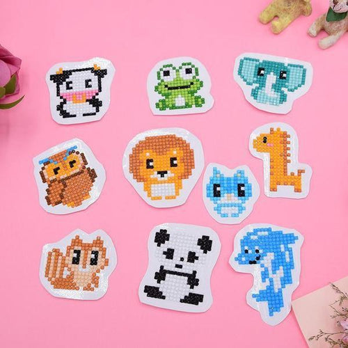 Cute Animals Stickers (6 Pack) - 5D Diamond Painting-EasyWhim