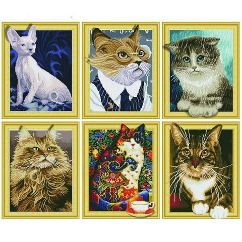 Cute Cats - DIY 5D Diamond Painting - 3D Drill-EasyWhim