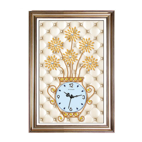 Cute Flower Clock - DIY 5D Diamond Painting Clocks-EasyWhim