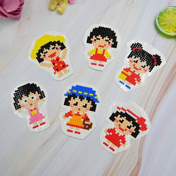 Cute Girls Stickers (6 Pack) - 5D Diamond Painting-EasyWhim