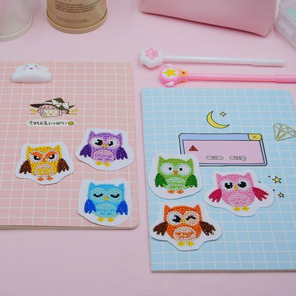 Cute Owl Stickers (6 Pack) - 5D Diamond Painting-EasyWhim