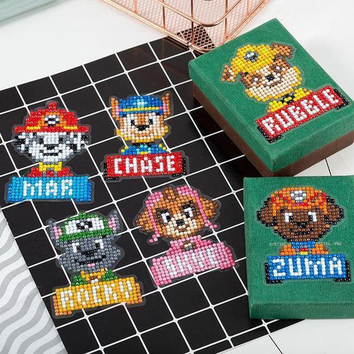 Dog Police Stickers (6 Pack) - 5D Diamond Painting-EasyWhim