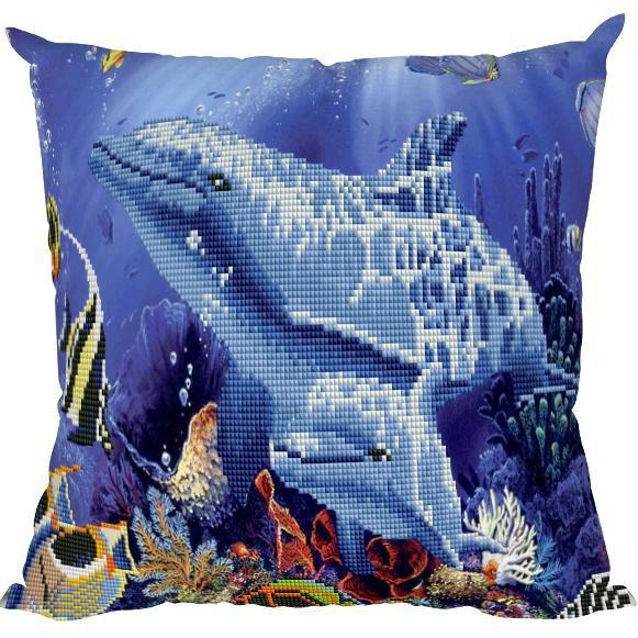 Dolphins - DIY Diamond Painting Cushions-EasyWhim