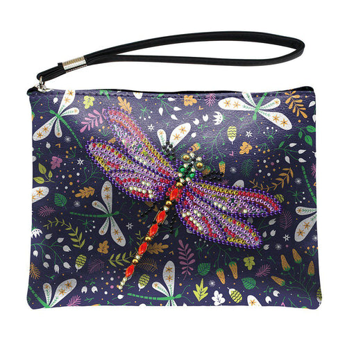 Dragon Fly - DIY Diamond Painting Purse-EasyWhim