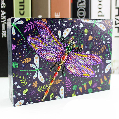 Dragonfly Queen - DIY Diamond Painting Jewelry Box-EasyWhim